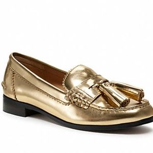 Coach Gold Haydee Loafers Size 8